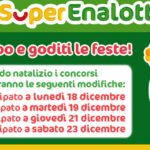 Calendario estrazioni Superenalotto Natale 2017